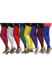Castle Pack of 8 Multicolor Solid Leggings