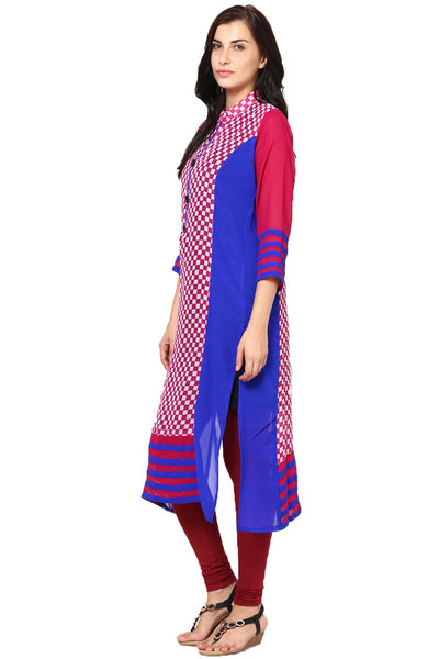Castle Multicoloured Printed Georgette Kurta - Castle Lifestyle