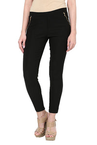 Castle Black Zip Jegging