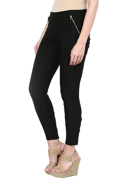 Castle Black Zip Jegging - Castle Lifestyle