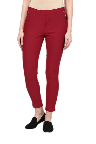 Castle Red Zip Jegging
