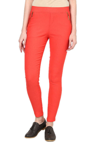 Castle Peach Zip Jegging
