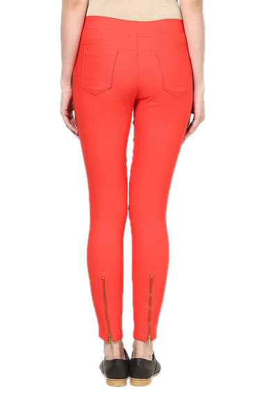 Castle Peach Zip Jegging - Castle Lifestyle