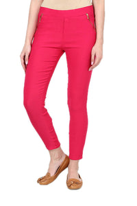 Castle Magenta Zip Jegging