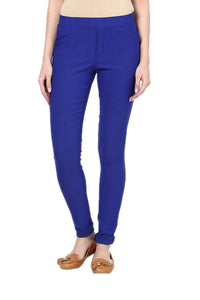 Castle Royal Blue Plain Jegging