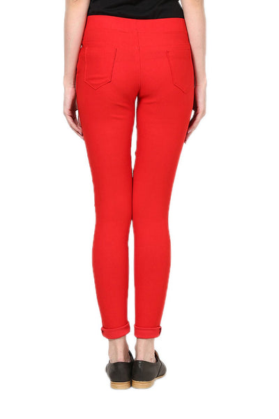 Castle Red Plain Jegging - Castle Lifestyle