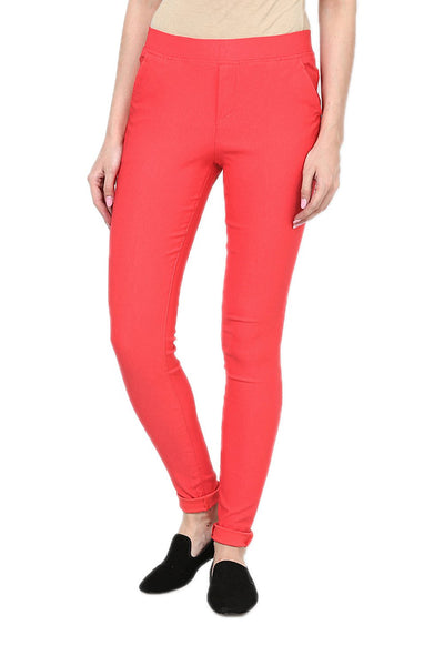 Castle Peach Plain Jegging