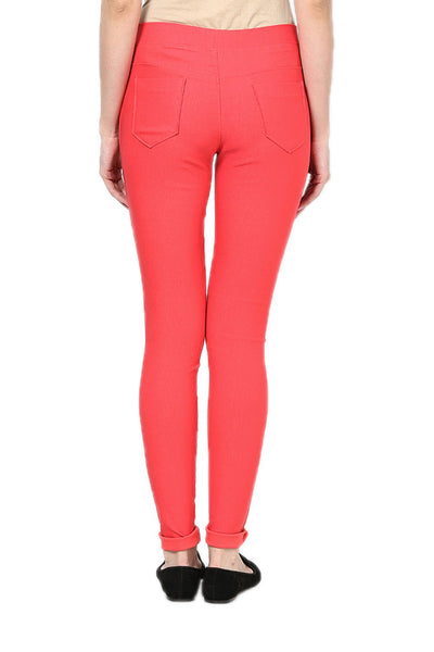 Castle Peach Plain Jegging - Castle Lifestyle