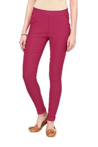 Castle Magenta Plain Jegging