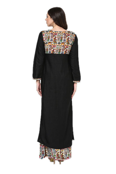 Castle Black Rayon Kurta - Castle Lifestyle