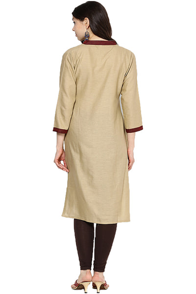 Castle Beige Cotton Kurta - Castle Lifestyle