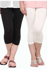 Castle Pack of 2 Multicolor Solid Capris6