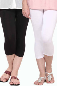 Castle Pack of 2 Multicolor Solid Capris11