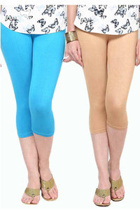 Castle Pack of 2 Multicolor Solid Capris12