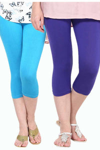 Castle Pack of 2 Multicolor Solid Capris13