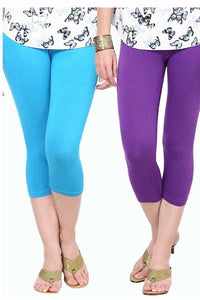Castle Pack of 2 Multicolor Solid Capris20