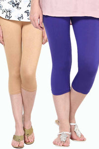 Castle Pack of 2 Multicolor Solid Capris23