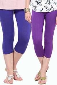 Castle Pack of 2 Multicolor Solid Capris39
