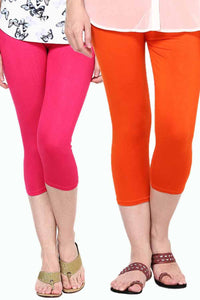 Castle Pack of 2 Multicolor Solid Capris45