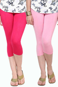 Castle Pack of 2 Multicolor Solid Capris46