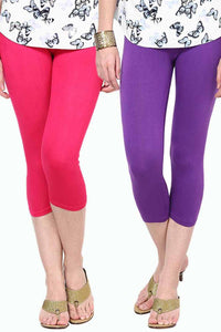 Castle Pack of 2 Multicolor Solid Capris47