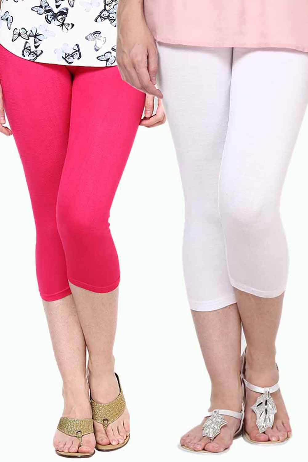 Castle Pack of 2 Multicolor Solid Capris49