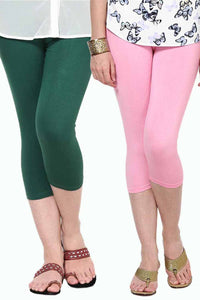 Castle Pack of 2 Multicolor Solid Capris53
