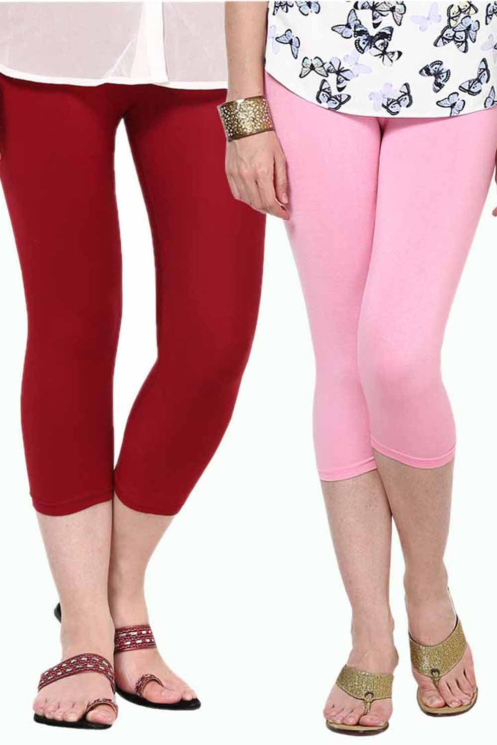 Castle Pack of 2 Multicolor Solid Capris59