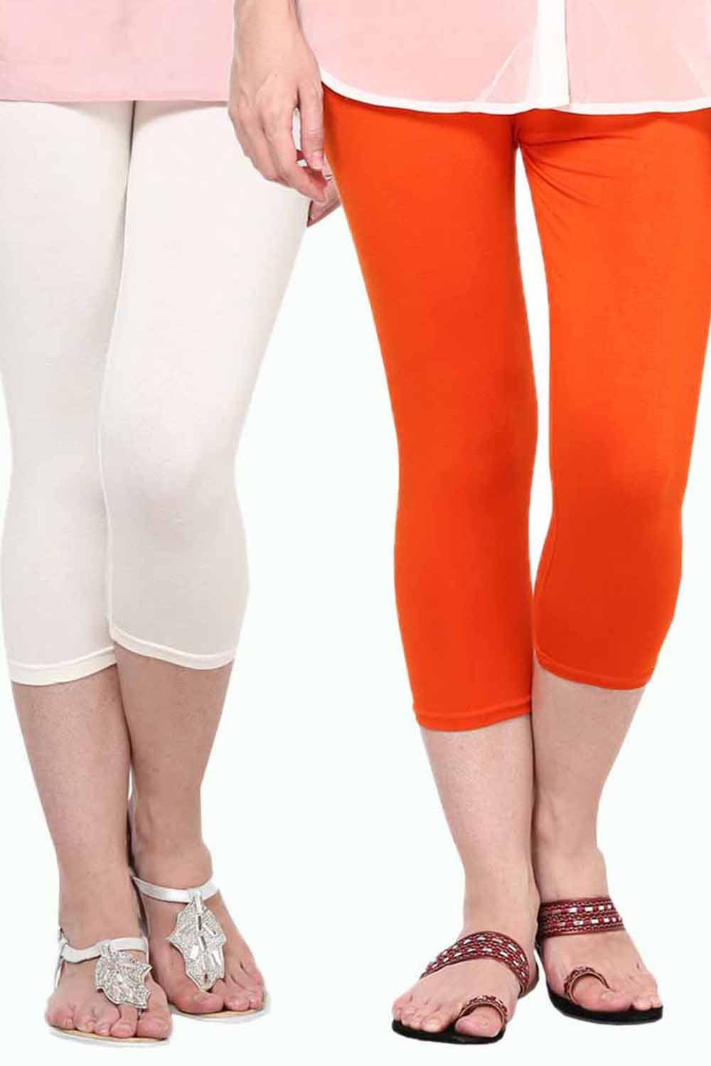 Castle Pack of 2 Multicolor Solid Capris63