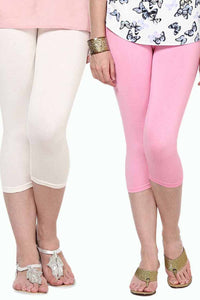 Castle Pack of 2 Multicolor Solid Capris64