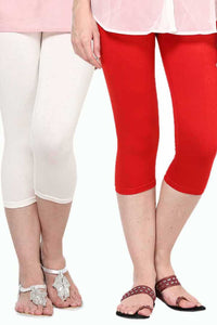 Castle Pack of 2 Multicolor Solid Capris66