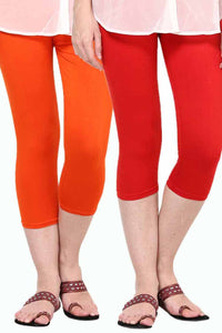 Castle Pack of 2 Multicolor Solid Capris70