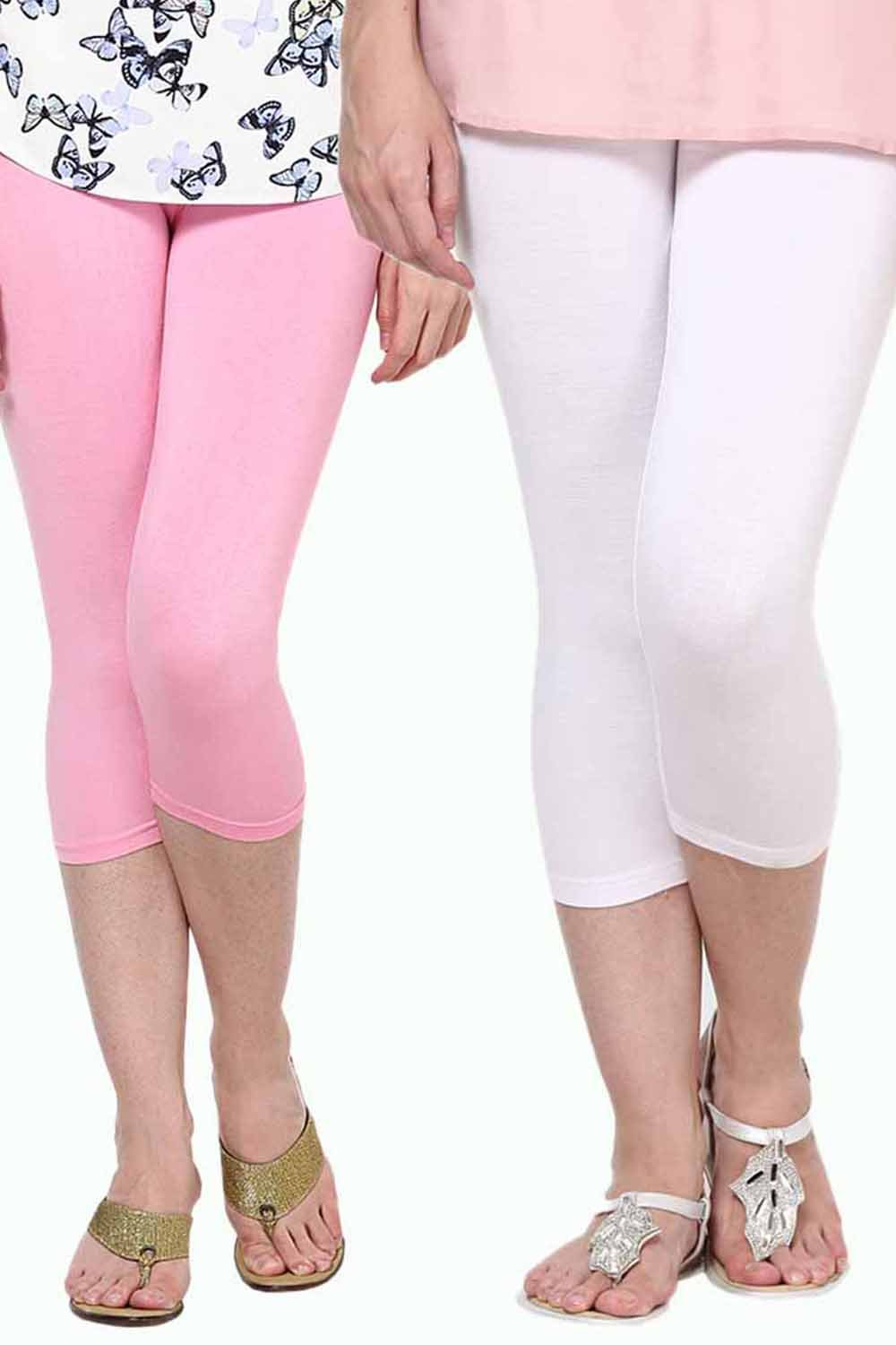 Castle Pack of 2 Multicolor Solid Capris74