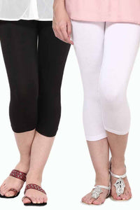 Castle Pack of 2 Multicolor Solid Capris78