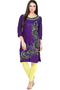 Castle Purple Rayon Kurta - Castle Lifestyle
