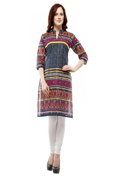 Castle Multi Colour Printed Cotton Kurta