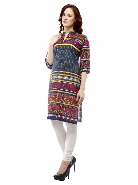Castle Multi Colour Printed Cotton Kurta - Castle Lifestyle