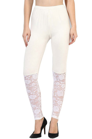 Castle White Half Net Legging
