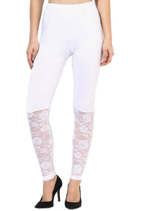 Castle Off White Half Net Legging
