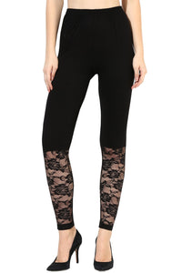 Castle Black Half Net Legging