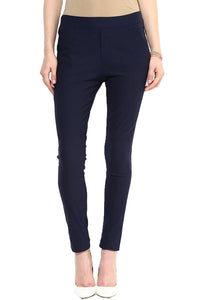 Castle Navy Blue Plain Jegging