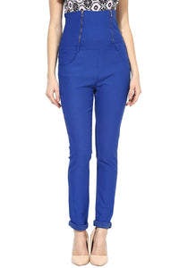 Castle Royal Blue High Waist Jegging
