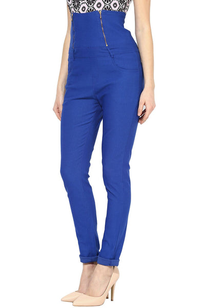 Castle Royal Blue High Waist Jegging - Castle Lifestyle