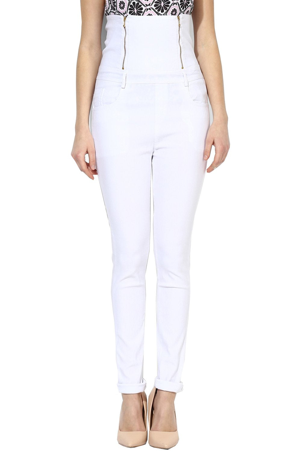 Castle White High Waist Jegging