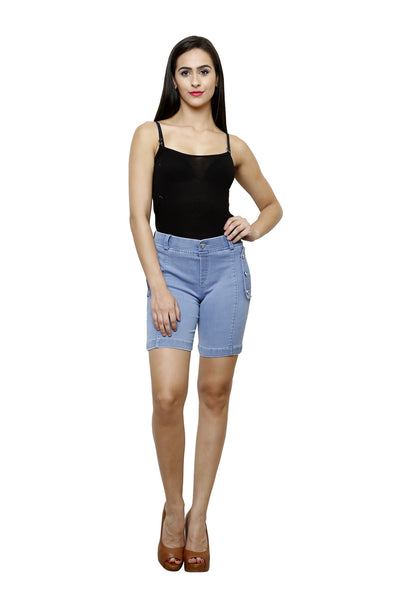 Castle Ice blue Denim Shorts - Castle Lifestyle