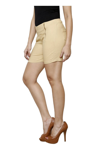 Castle Beige Double Zip Lumlum Shorts - Castle Lifestyle