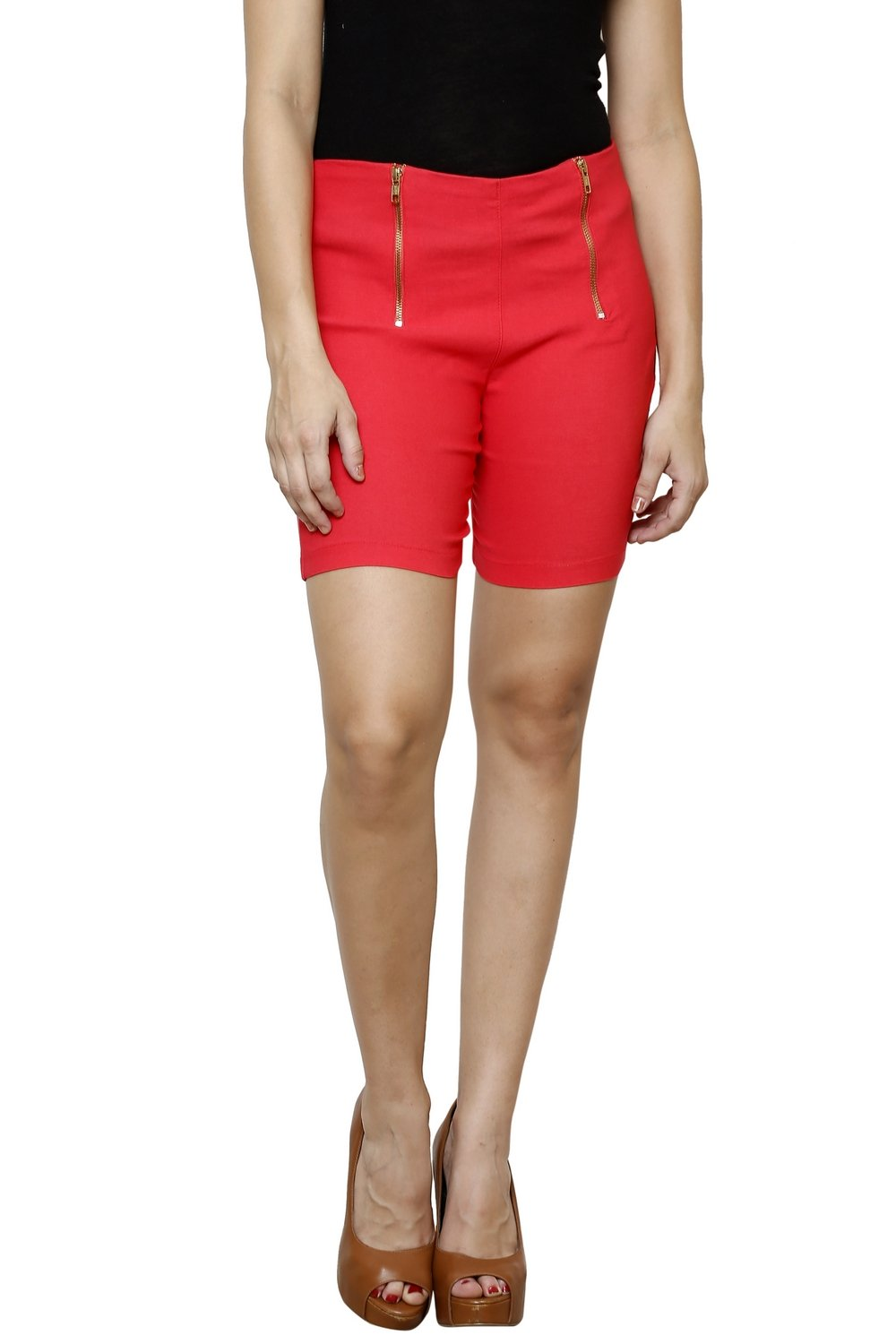 Castle Peach Double Zip Lumlum Shorts - Castle Lifestyle