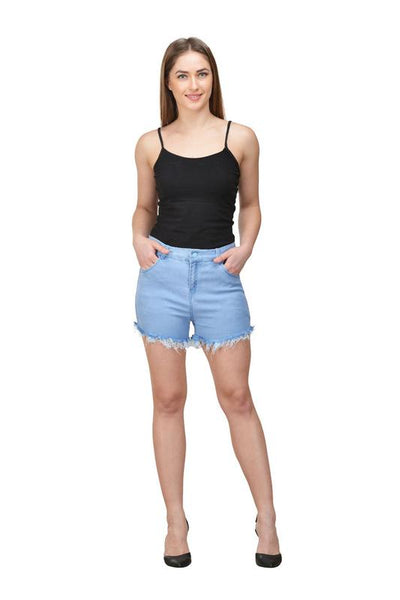 Castle Ice Blue Cut-Offs-Denim-Shorts - Castle Lifestyle