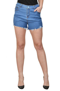 Castle Light Blue Cut-Offs-Denim-Shorts