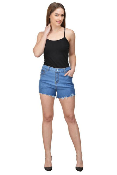Castle Navy Blue Cut-Offs-Denim-Shorts - Castle Lifestyle